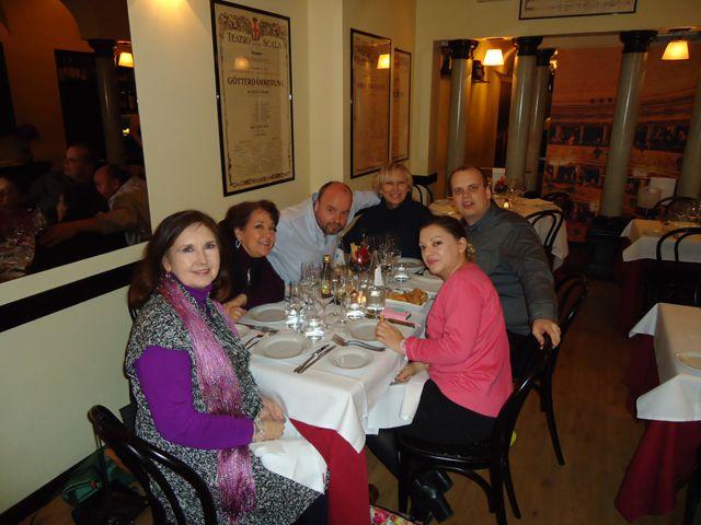 Enjoying dinner at Radiodays